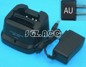240V AU Li-ion Ni-MH Ni-CD Charger for Icom Radio BC-137 BP-209N BP-210N BP-211N