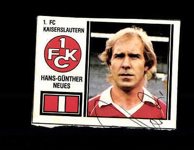Hans Günther Neues 1 FC Kaiserslautern Panini Sammelbild 1981 Original+ A 144446