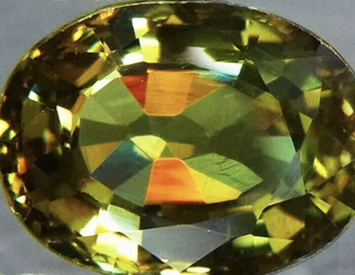 1.48 CARAT GREEN  Natural DEMANTOID GARNET Color Change Green To Purple Gr8 $$