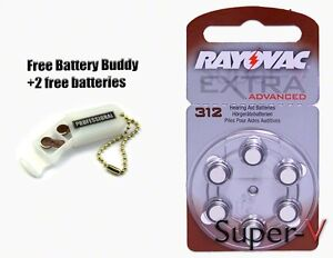 Rayovac-Hearing-Aid-Batteries-Size-312-x60-Mini-Pack-2-Batteries-Keychain