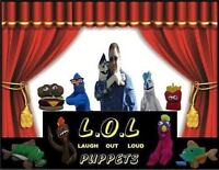 Laugh Out Loud Puppets Presents Singing Fishing Puppet Grams
