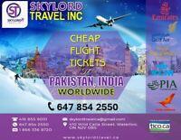 SKYLORD TRAVEL INC***Cheap Flights 2 India, Pakistan and WW