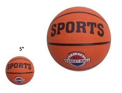 """Mini Pallone Da Basket Pallacanestro Palla Gioco Ball Basketball Misura 5"""" dfh"""