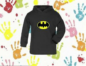 BATMAN-BABY-BOYS-GIRLS-CHILDRENS-NOVELTY-PERSONALIZED-HOODY-GIFT-0-6-YRS