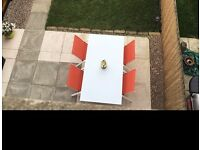 B&Q Janeiro Outdoor Garden Dining Table and Chairs