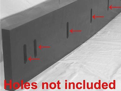 Urethane Snow Plow Blade 12 X 6 X 60  Outlasts Rubber Bladesedges