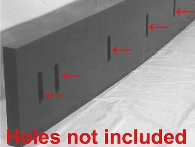 Urethane Snow Plow Blade 12 X 6 X 60  Outlasts Rubber Bladesedges