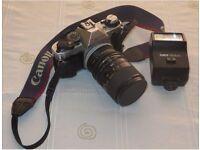 CANON AE1 Programme Camera & Lenses.