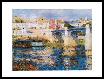 Pierre Auguste Renoir Brücke (Pierre Auguste Renoir Brücke in Chatou Poster Bild Kunstdruck und Rahmen 24x30cm)