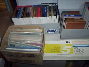 Large lot of Car & Truck Shop Manuals & Qty of 85 Owners Manuals