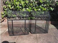 2 used but good working order metal fireplace guards in black.