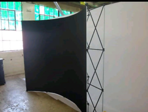 Popup booth, backdrop.