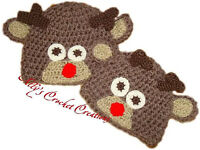 Reindeer Kids hand made Hat