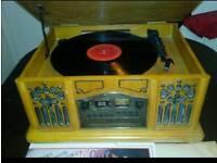 Record CD, Cassette, Radio Retro Gram,