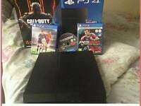 Ps4 500gb boxed up rarely used 3 games