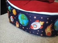 Beanbag planet bean bag. Space theme. Great condition. Smoke and pet free home.