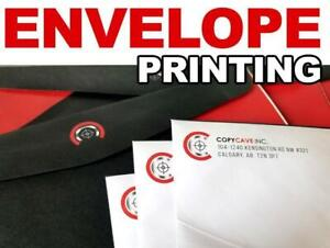 Envelope Printing - We Print Custom Full Bleed Envelopes! Highly competitive pricing & Canada-wide shipping