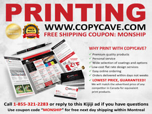 ⋆☆BEST RATES★PRINTING SERVICES★FREE NEXT DAY MONTREAL SHIPPING☆⋆