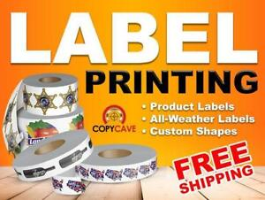 LABEL PRINTING - Cheap Bulk Rates! - Outdoor, Waterproof, BOPP, Eggshell Felt, Stickers - Custom shapes no extra cost