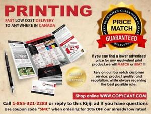 PRINTING SERVICES • LOWEST PRICE GUARANTEE • 10% OFF PRINT COUPON CODE: SMC