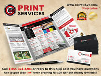 PRINTING SERVICES - ORDER ONLINE, CHEAP PRICES & FAST - 10% OFF