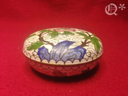 1950s  Chinese Cloisonne Enamel Brass Thinking Box