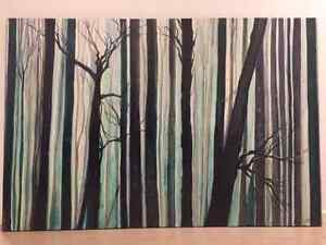 Large, hand painted, modern tree green canvas painting Echuca Campaspe Area Preview