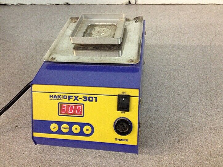 Hakko FX-301  Solder Pot Soldering Bath Powers On & Heats up.