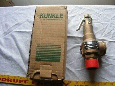Kunkle Bronze Pressure Safety Relief Valve 1 14 Set 35 Psi 813 Cap 6010ff01 L