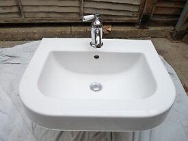 Duravit sink with vintage mixer tap.