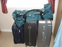 2 x suitcases, holdall and overhead locker suitcase for sale