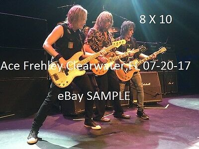 Kiss 2017 Ace Frehley Group 8 X 10 Color Photo Clearwater,FL