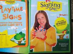 Signing time dvd and flash cards