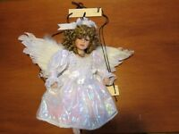 Angel on Swing Porcelain Doll : Cathay Collection