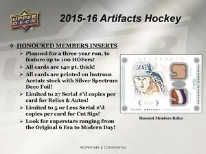 2015-16 Upper Deck Artifacts Hockey Trading Cards Hobby Box Kitchener / Waterloo Kitchener Area image 5