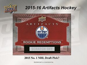 2015-16 Upper Deck Artifacts Hockey Trading Cards Hobby Box Kitchener / Waterloo Kitchener Area image 6