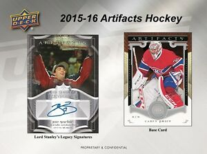2015-16 Upper Deck Artifacts Hockey Trading Cards Hobby Box Kitchener / Waterloo Kitchener Area image 7