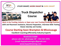 TO GET OFFICE JOB IN BRAMPTON MISSISSAUGA DO DISPATCHER COURSE