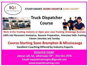 FOR FREE DEMO CLASS OF TRUCK DISPATCHER COURSE IN BRAMPTON