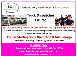 WANT OFFICE JOB = DO TRUCK DISPATCHER COURSE = FREE DEMO