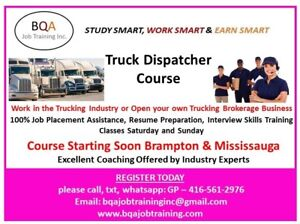 DISPATCHER COURSE STARTING SOON ON WEEKENDS AND DAYS IN BRAMPTON