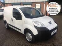 63 PEUGEOT BIPPER 1.2 HDI 75BHP IN WHITE LOW MILES AND FULL ELECTRIC PACK NEMO