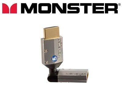 Monster Premium HDMI Giratorio Adaptador Macho a Hembra 360°Ángulo Rotación