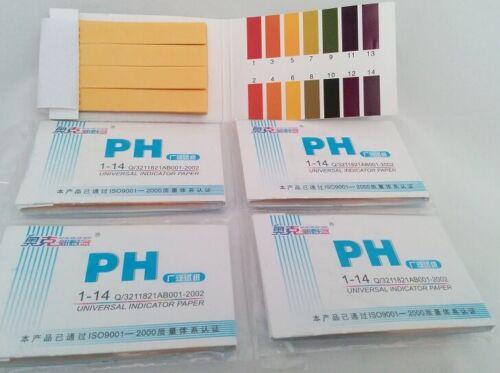 6 Pack Full Range Universal Ph Test Strips 1-14 Litmus Paper (6 X 80 = 480)