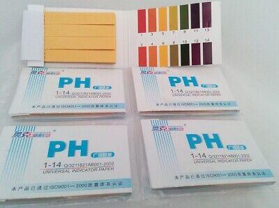 5 Pack 5 X 80 Full Range Universal Ph Test Strips 1-14 Litmus Paper