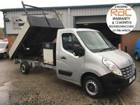 2011 61 RENAULT MASTER 2.3 LL35 6 SPEED 125 BHP DROPSIDE TIPPER WITH TOOLBOX