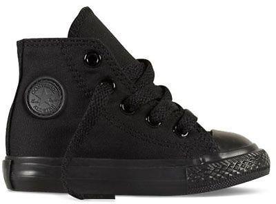Converse Chuck Taylor Black Mono Infant Hi Top Toddler Boy Girl Shoes All Sizes