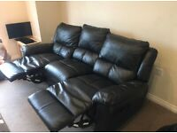 3 seater Leather recliner Sofa can deliver