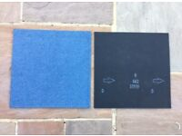 200 Blue Carpet Tiles £180