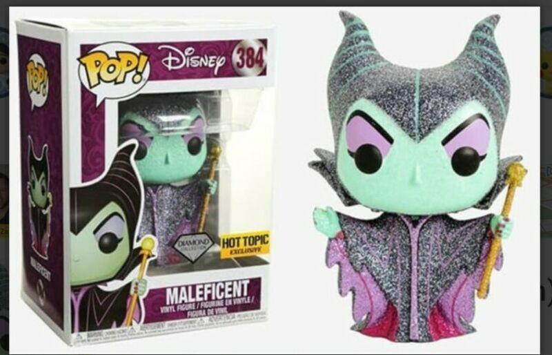 "Pop Disney "" Maleficent "" 384 Diamond Collection Hot Topic Exclusive"